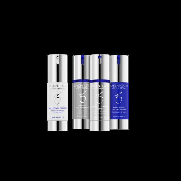 skin brightening and texture program